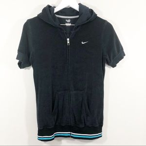 Nike Hooded Short Sleeve Zip-up